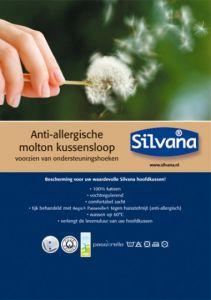 Anti-allergische Silvana molton kussenhoes (Zonder schoudercontour)