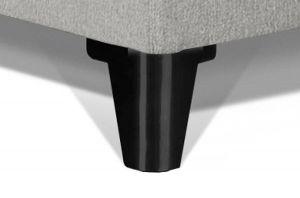 Caresse Pootjes Halfrond van metaal RVS Zwart 130mm Hoog