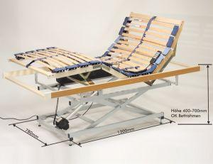 Huijer Sleepingproducts Actieflex Hoog-Laag Bodem Care Lattenbodem 28 Lats Elektrisch Verstelbaar Driemotorig