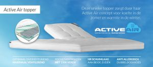 Caresse Pocket+ Active Air 13 cm Superieur ventilerend Topmatras Vlak 885