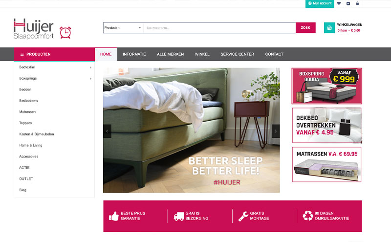 Online winkel Huijer Slaapcomfort