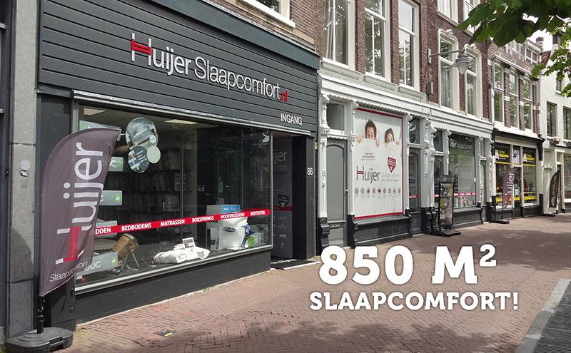 De winkel van Huijer Slaapcomfort in Gouda